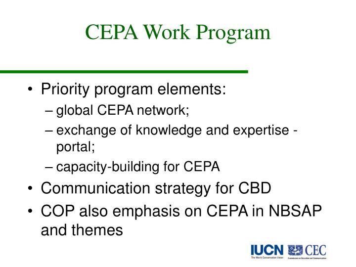 CEPA Work Program