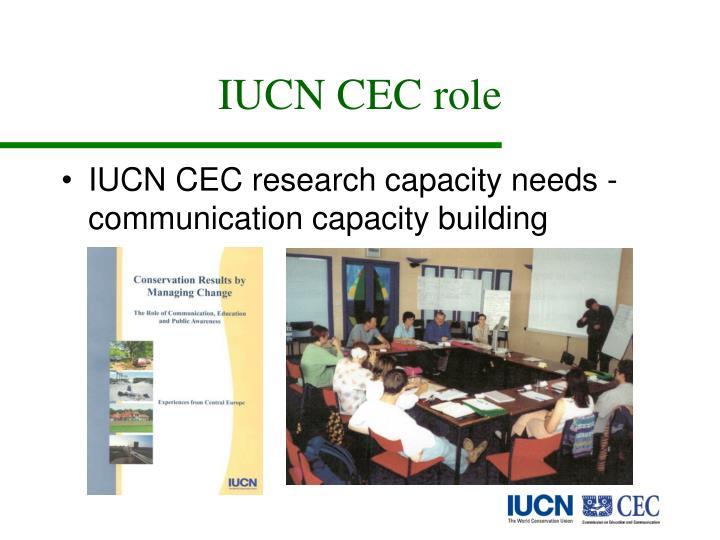 IUCN CEC role