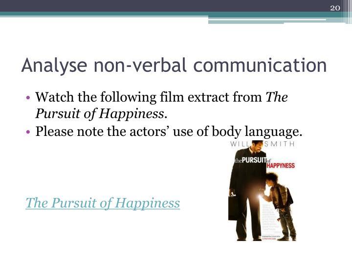 Analyse non-verbal communication