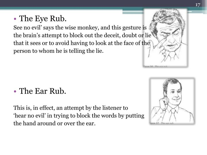 The Eye Rub.