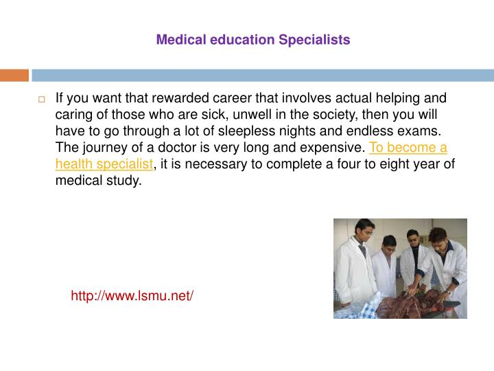 Medical education Specialists
