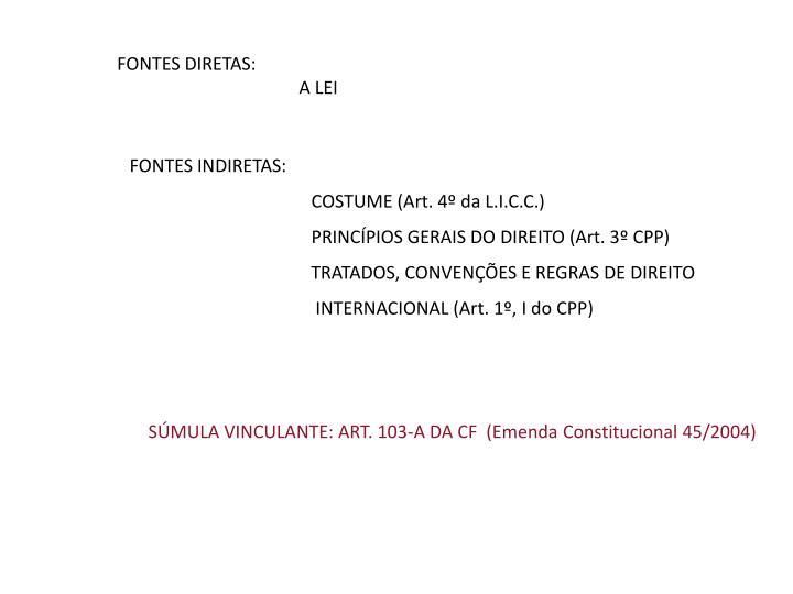 FONTES DIRETAS: