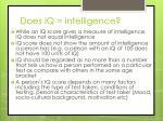does iq intelligence