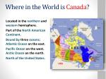 where in the world is canada