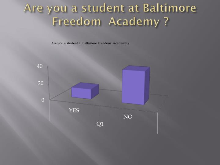 Are you a student at Baltimore Freedom  Academy ?