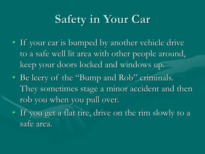 Safety in Your Car