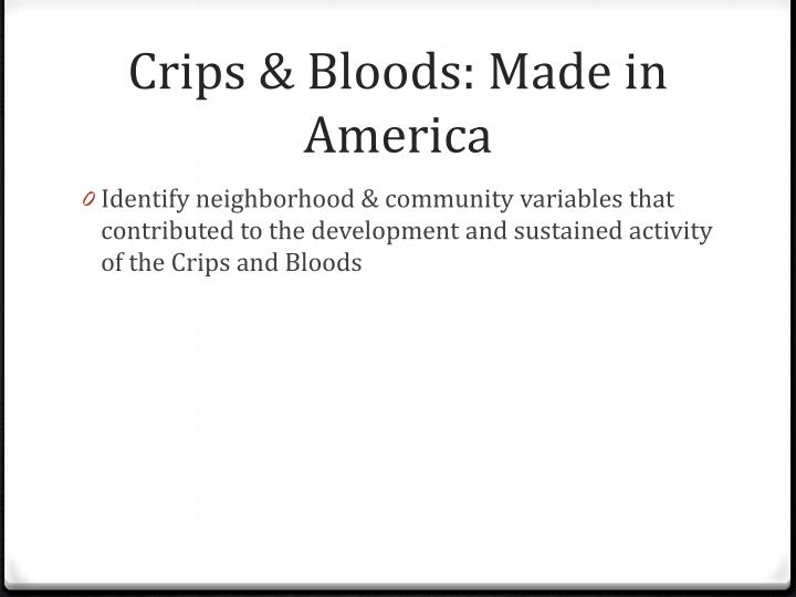Crips & Bloods: Made in America