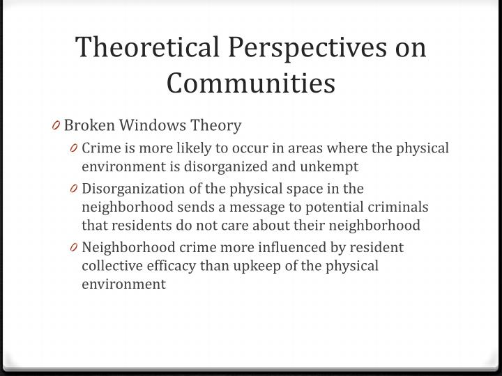 Theoretical Perspectives on Communities