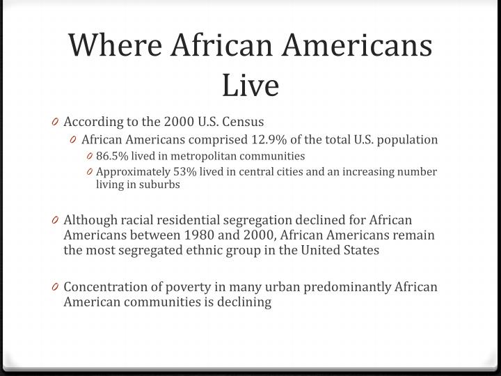 Where African Americans Live