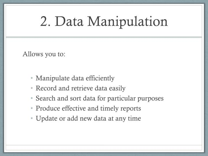 2. Data Manipulation