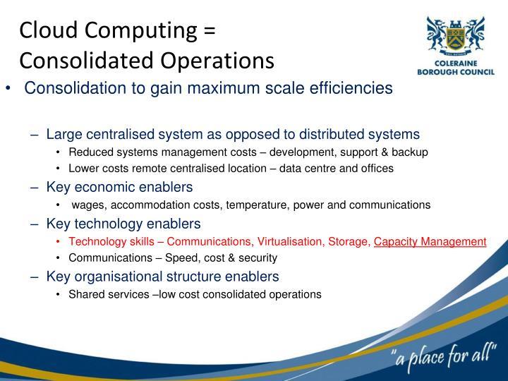 Cloud Computing =