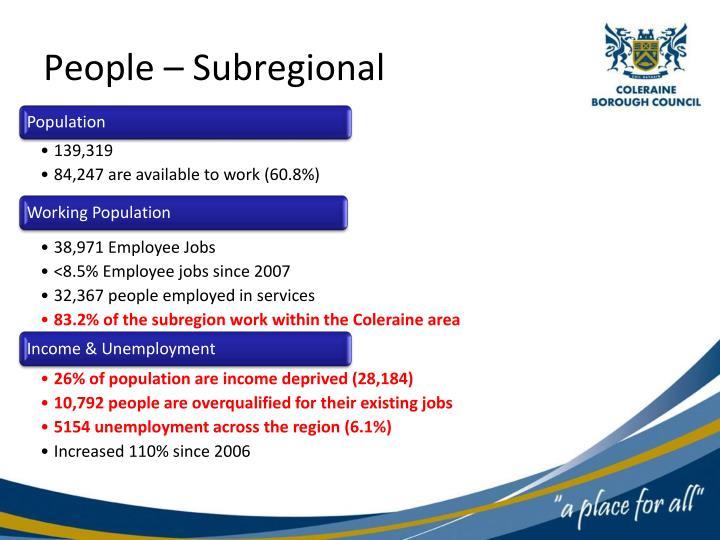 People – Subregional