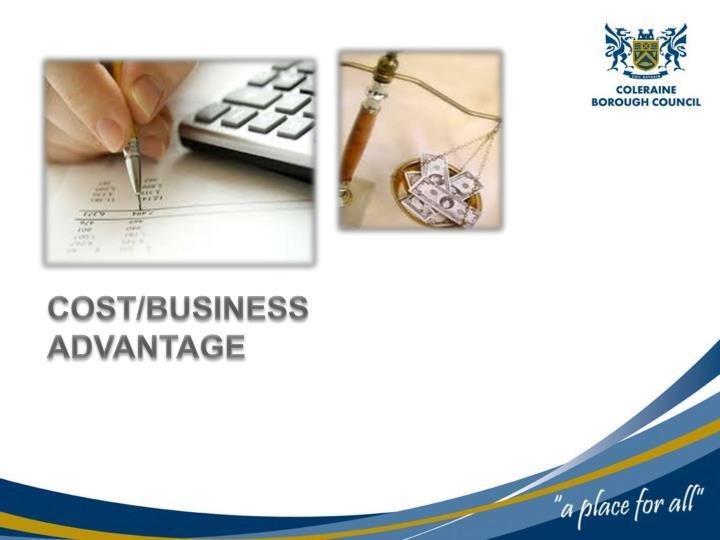 COST/BUSINESS ADVANTAGE