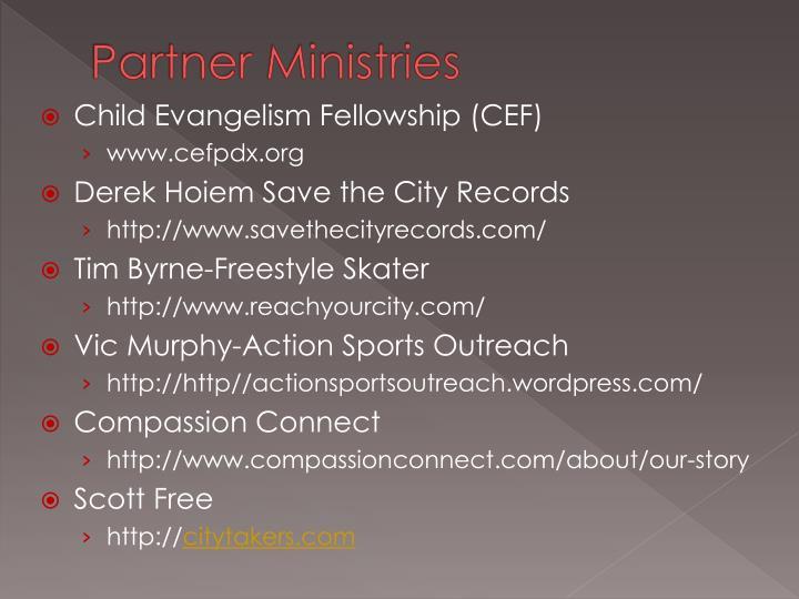 Partner Ministries