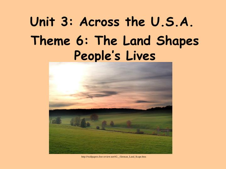 Unit 3 across the u s a