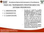 fases del tratamiento penitenciario del sistema progresivo