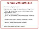to move without the ball