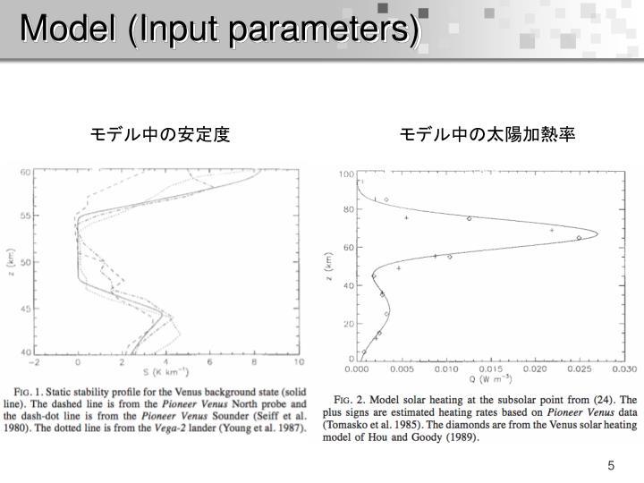 Model (Input parameters)