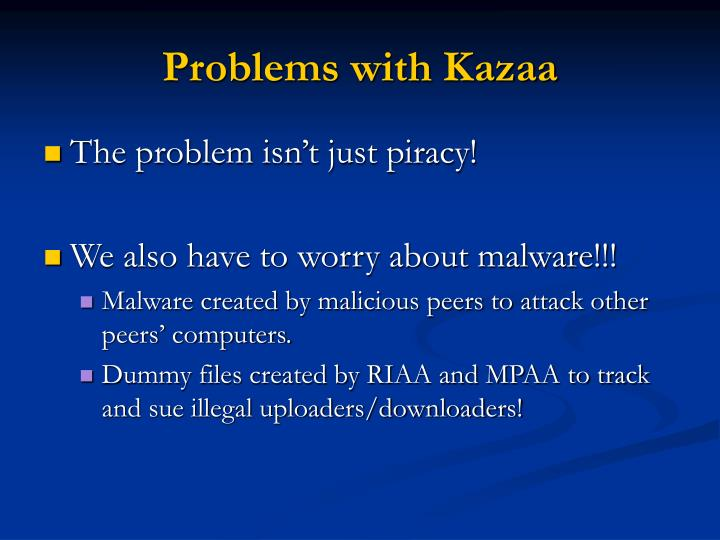 Problems with Kazaa