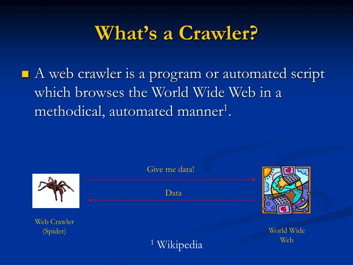 What's a Crawler?