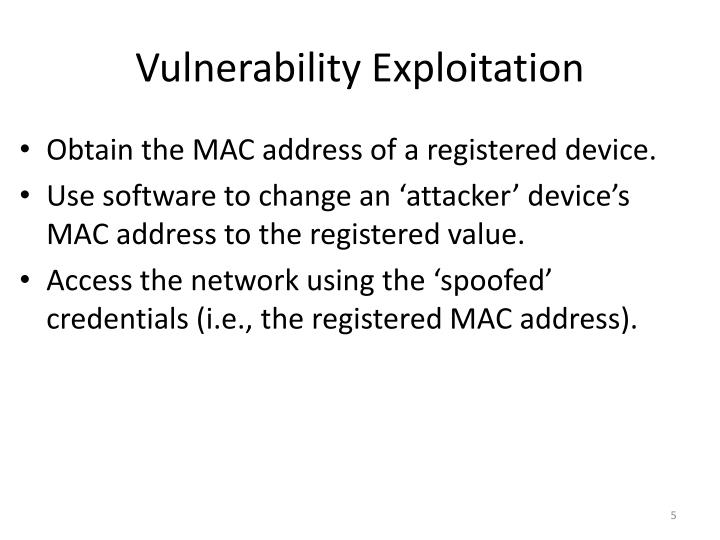 Vulnerability Exploitation