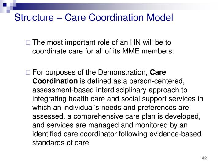 Structure – Care Coordination Model