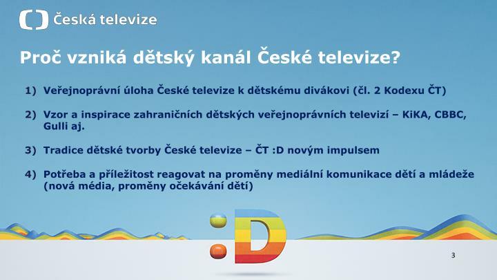 Proč vzniká dětský kanál České televize?