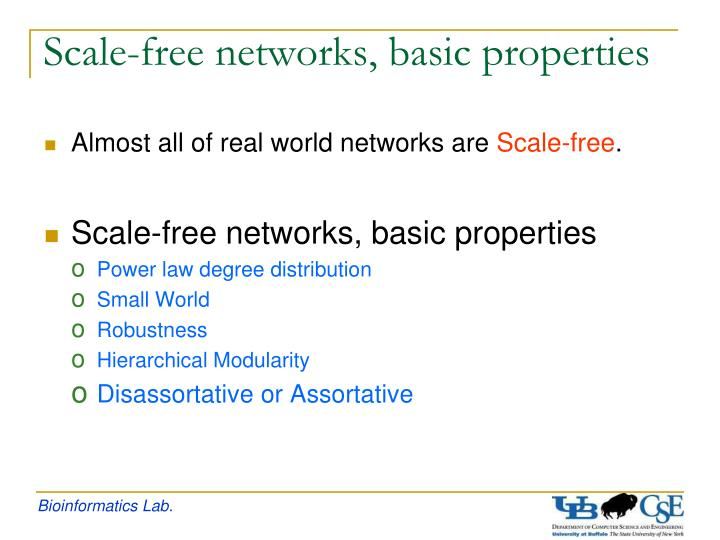 Scale-free networks, basic properties