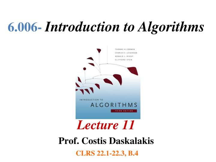 6 006 introduction to algorithms