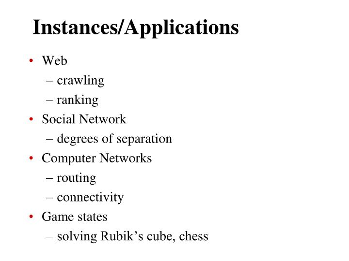 Instances/Applications