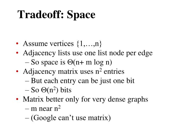 Tradeoff: Space