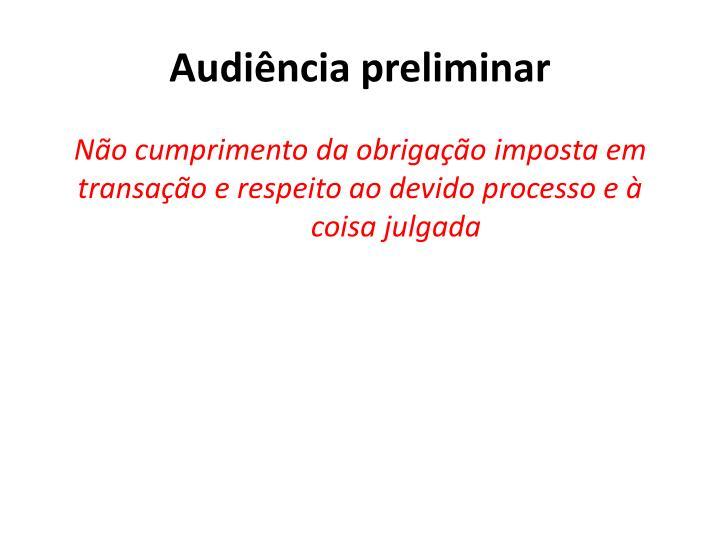 Audiência preliminar