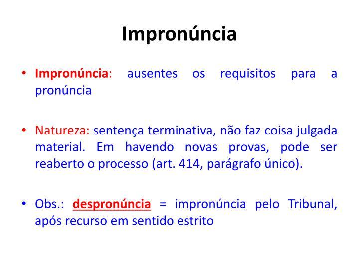 Impronúncia