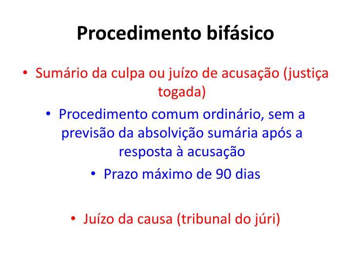 Procedimento bifásico