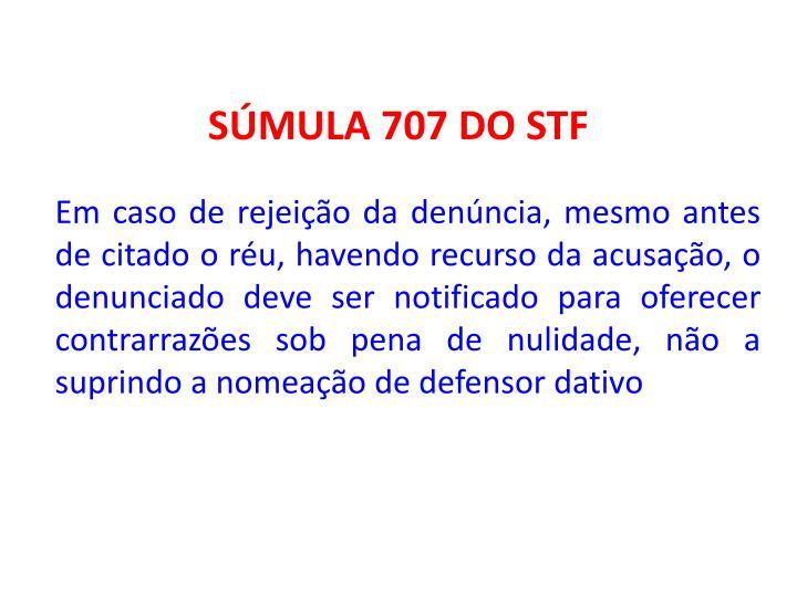 SÚMULA 707 DO STF