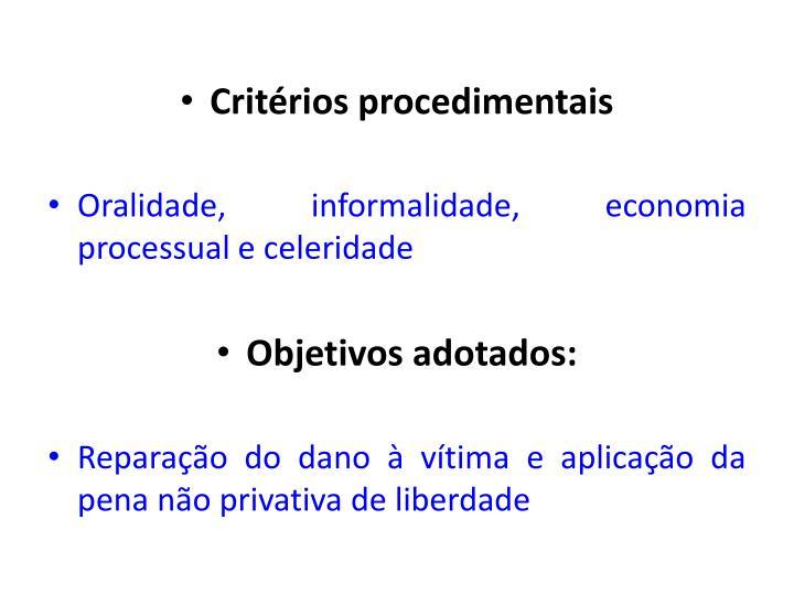 Critérios procedimentais