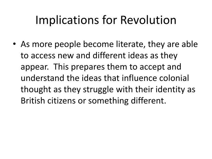 Implications for Revolution