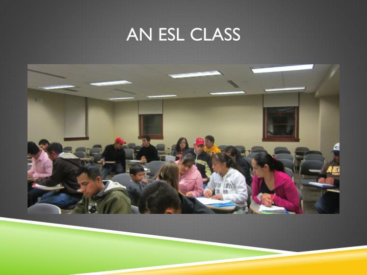 An ESL Class