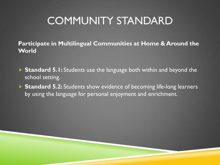 Community Standard