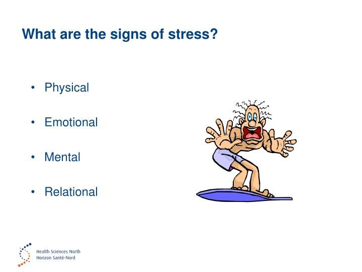 What are the signs of stress?
