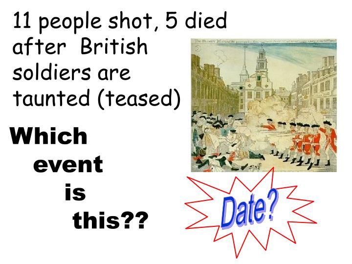 11 people shot, 5 died