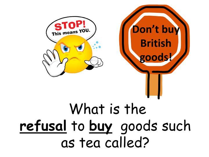Don't buy