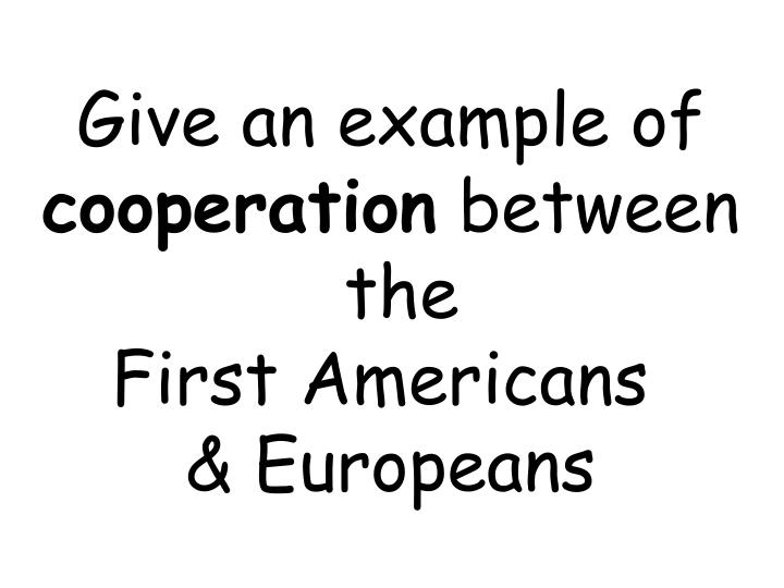 Give an example of