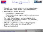 challenges in advancement of m s
