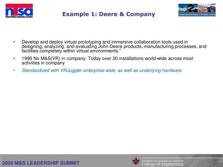 Example 1: Deere & Company