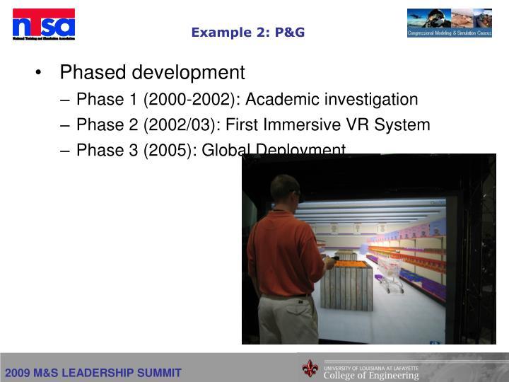 Example 2: P&G