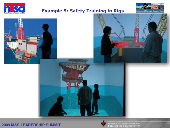 Example 5: Safety Training in Rigs