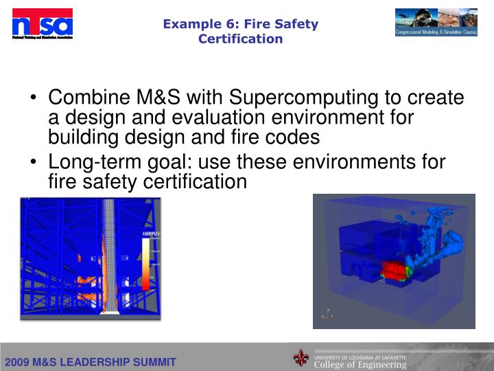 Example 6: Fire Safety Certification