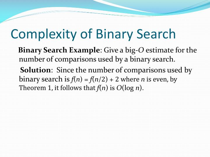 Complexity of Binary Search