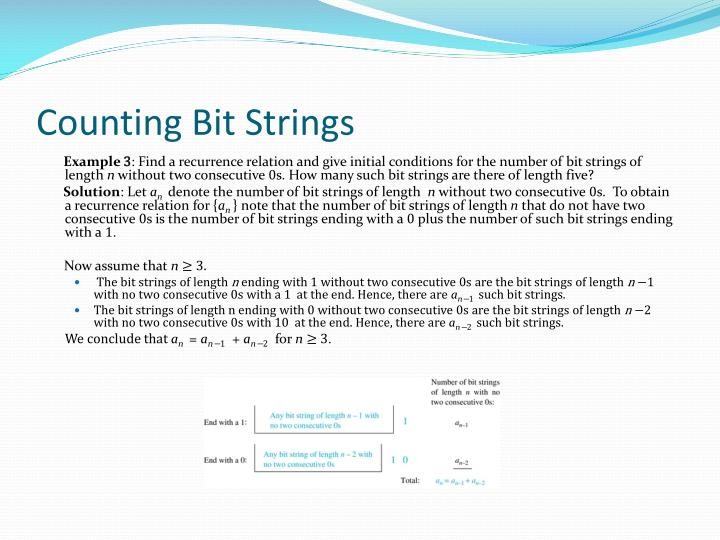 Counting Bit Strings